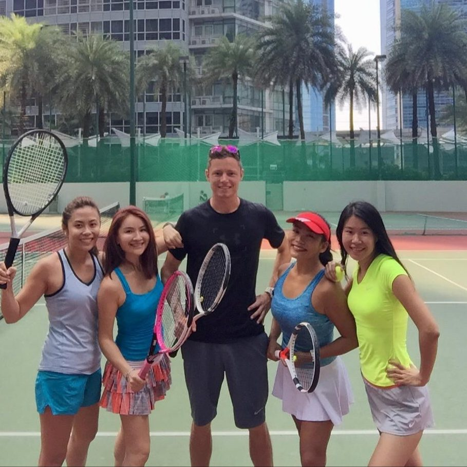 Fun and Intense Group Tennis Lessons